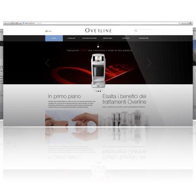 L'homepage del sito www.overline.it